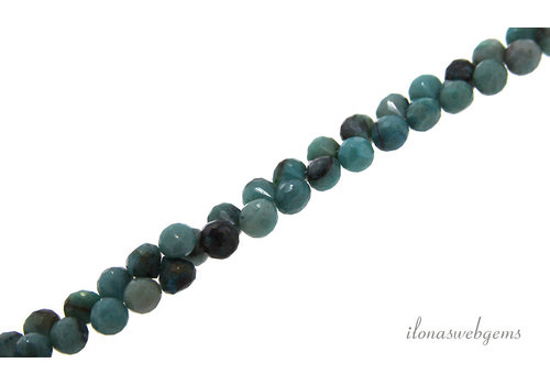 Chrysoprase faceted briolettes approx. 6x6mm