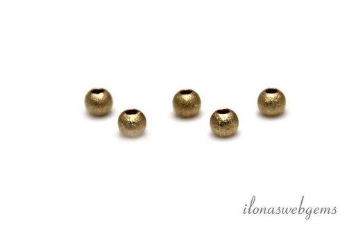 14 karaat gouden Stardust kraal ca. 3mm
