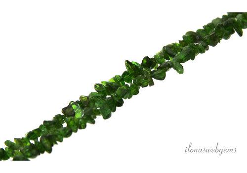 Diopside beads split fine around 3-5mm