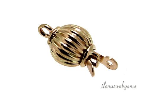 14 karat gold box clasp approx. 6 mm