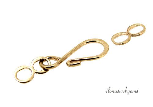 14 karat gold hook clasp, approx. 18 x 8.2 mm