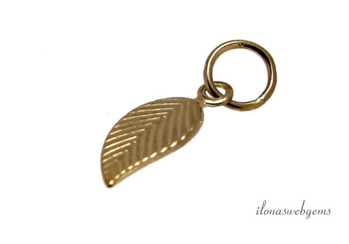 14k / 20 Gold filled charm leaf approx. 10x5mm