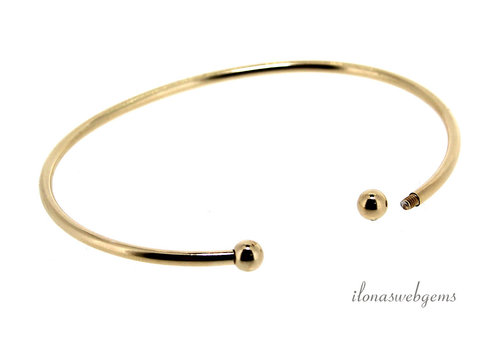 14k / 20 Gold filled bracelet screw ball