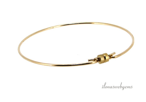 14k/20 Gold filled armband magneetslot