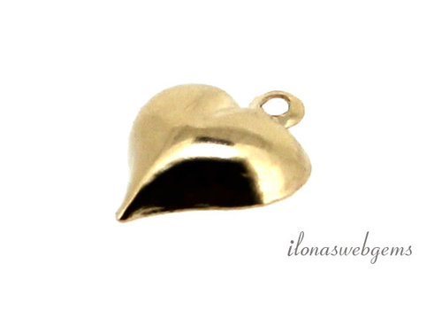14k/20 gold filled bedeltje hartje ca. 10mm
