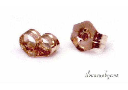 1 paar 14k/20 Rosé Gold filled poussettes ca.  4x2.5mm