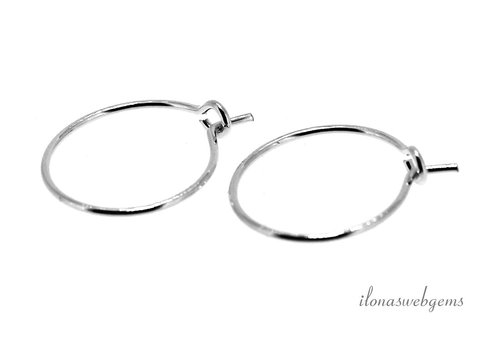 1 pair of Sterling silver creoles around 12mm