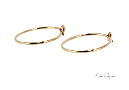 14 k / 20 Gold filled creoles approx. 15 mm