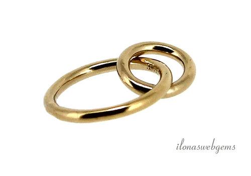 1 stuk 14k/20 Gold filled dubbele ring