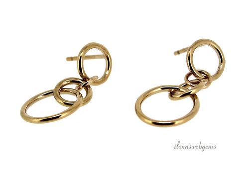 Inspiratie: Gold filled oorbellen dubbele ringen