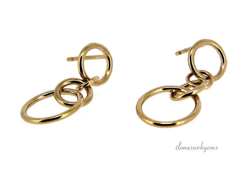 Inspiration: Gold filled earrings double rings