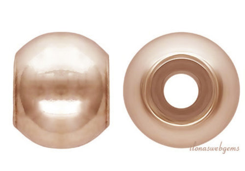 Rosé vermeil smart bead approx 4mm