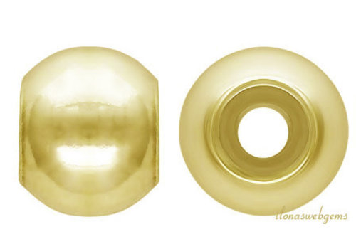 Vermeil smart bead approx 4mm