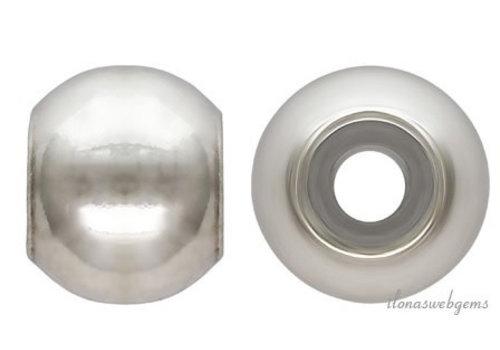 Sterling zilveren smart bead ca. 3mm