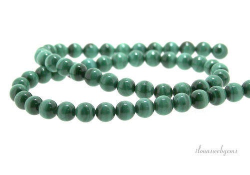 Malachite beads light around 6mm
