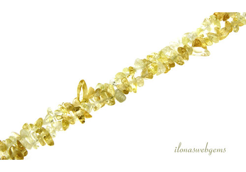 Citrine beads split fine about 3-5mm