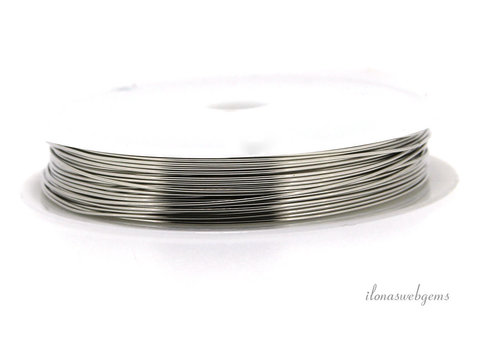 Wire draad zilver ca. 0.60mm