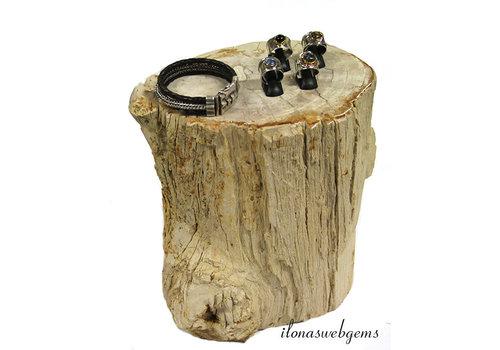 Petrified wooden plinth / side table