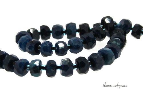 Apatite beads facet around 8.5x6mm