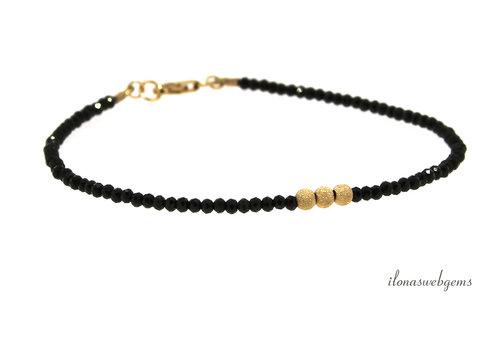 Bracelet 14krt gold filled, black Spinel
