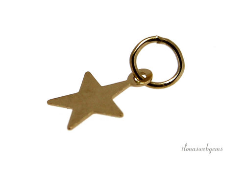 14 kt / 20 Gold filled charm star approx. 8mm