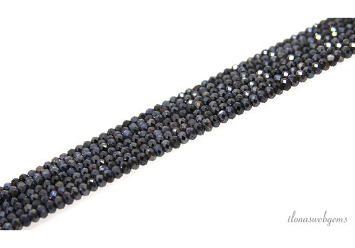 """Mystic Sapphire beads faceted """"dark"""" about 3-4mm"""