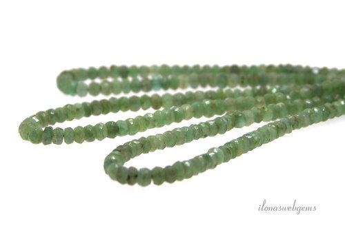 Smaragd kralen facet rondel ca. 4.5x3mm