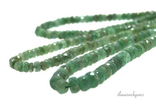 Smaragd kralen facet rondel ca. 4x2mm