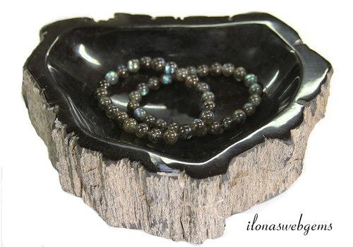 Petrified wooden (jewelry) bowl