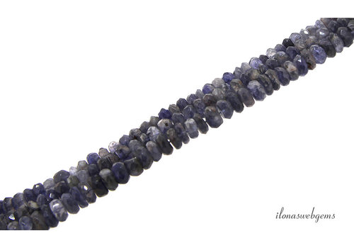 iolite beads faceted roundel about 6.5x4mm