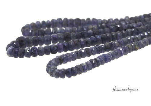 Tanzanite beads faceted roundel approx. Ascending and descending from approx 3.5x2 to 6x3.5mm