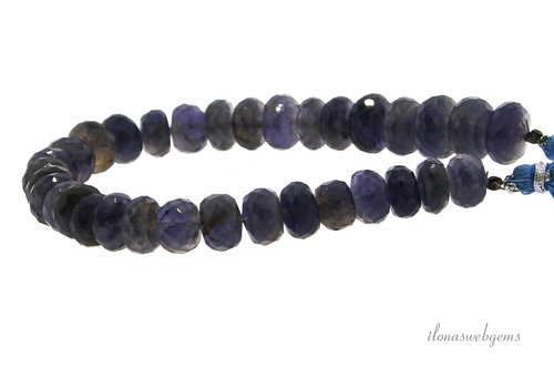 iolite beads faceted roundel A quality about 10x5mm