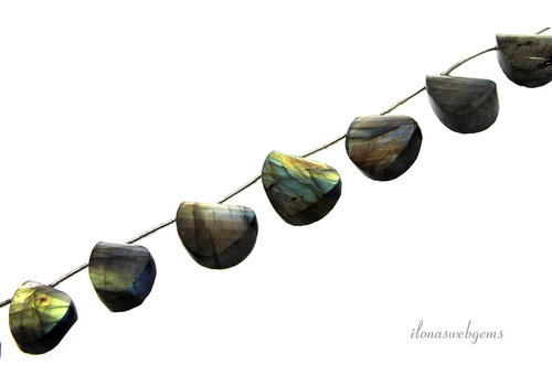 Labradorite facet drops half twist up and down AA quality