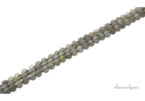Labradorite beads faceted around 4mm AA quality