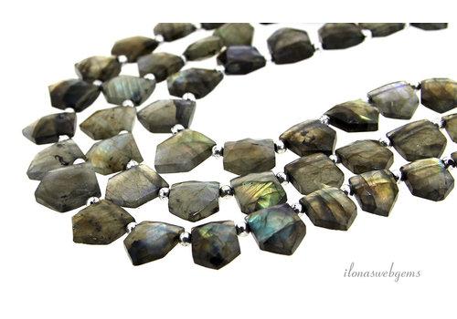 Labradorite beads / pendants ascending and descending AA quality