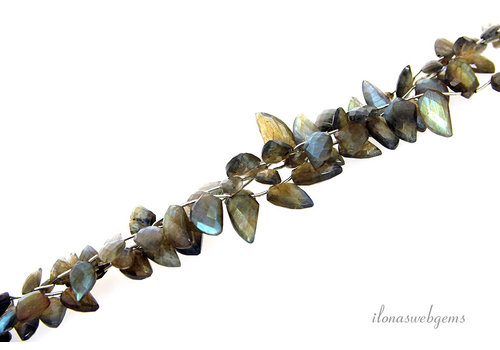 Labradorite beads side drill ascending and descending AA quality ascending and descending from approx. 13x8x3 to 22x10x7mm