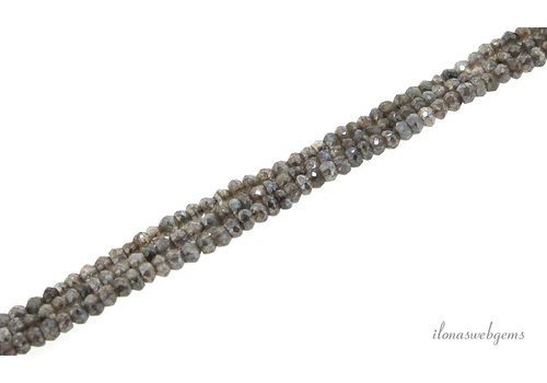 Mystic Labradorite beads faceted roundel about 4x3mm