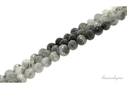 Rutile quartz caral facet around 10-11mm AA quality