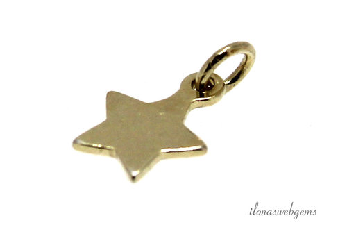 14 krt Vermeil charm star about 6mm
