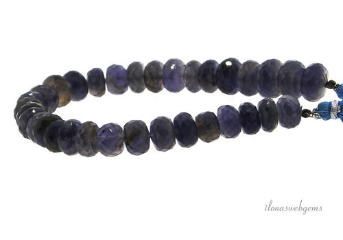 iolite beads faceted rondelle A quality