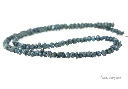 Blauwe Diamant kralen split ca. 5x3.5mm