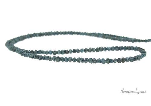 Blue Diamond beads split about 2.5x2mm