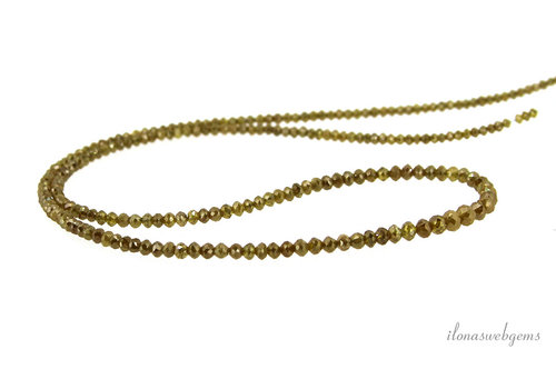 Yellow Diamond beads AA quality faceted roundel ascending and descending from approx. 1.5x1 to 3.5x2.5mm