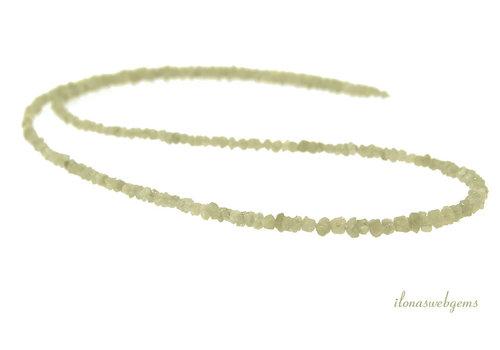 Diamant kralen split Champagne klein ca. 2.5x2mm