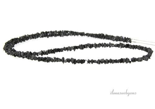 Black Diamond beads split rough approx 3.5x2mm