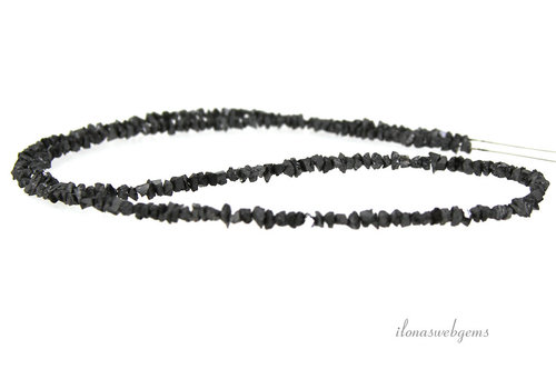 Zwarte Diamant kralen split rough ca. 3.5x2mm