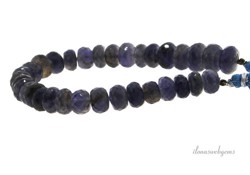 iolite beads faceted roundel A quality about 6x3.5mm