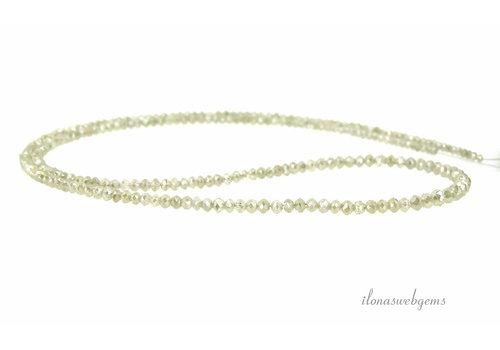 Diamant kralen AA kwaliteit facet rondel Champagne op- en aflopend van ca. 1.5x1 tot 2.5x2mm