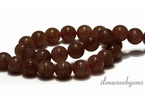 Strawberry Quartz beads around 10mm