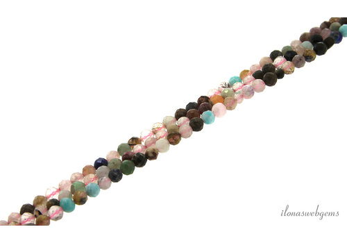Faceted beads mix AA quality, new, approx. 4.5mm